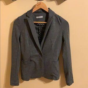 Olivia Moon gray ponte knit blazer XSP